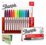 #9: Sharpie Permanent Markers, Fine Point, Black, Box of 12 and Sharpie Permanent Markers, Fine Point, Assorted Colors, 12 Count, Includes 5 Color Flag Set