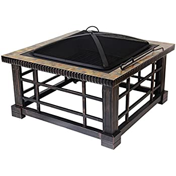 Patio watcher fire pit fire table for outdoor for Global outdoors fire table
