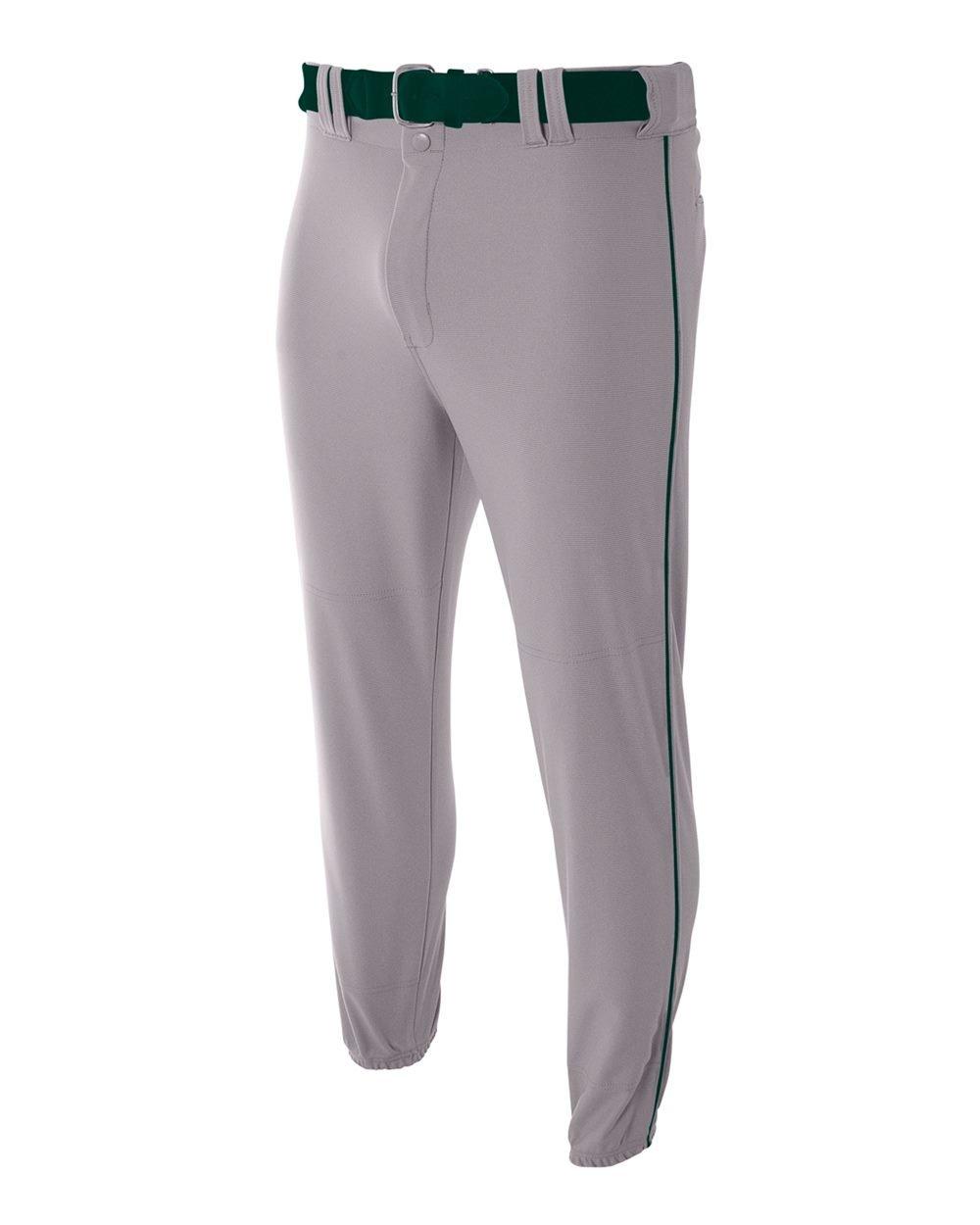 A4 Jungen nb6178 nb6178-gyf Pro-Style Elastic unten Baseball Hose
