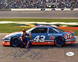 Autographed Petty Picture - 8x10 COLOR GREAT POSE 43 CAR - JSA Certified - Autographed Photos