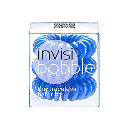 Invisibobble Traceless Hair Ring and Bracelet, Navy Blue Suitable for All Hair Types by Invisibobble (English Manual)