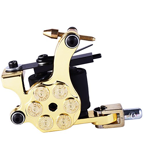 Fashionzone New Rotary Tattoo Machine Bullet Style 4 Colors Tattoo Machine for Tattoo Shader Liner Fashion Tattoo Machine (Style Machine Gun)