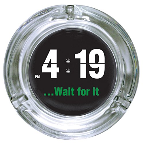 ICUP-iPartyHard-419-Wait-For-It-Glass-Ashtray-Clear