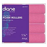 Fromm International Diane Foam Rollers, Pink, 1.25-Inch, 8/Bag
