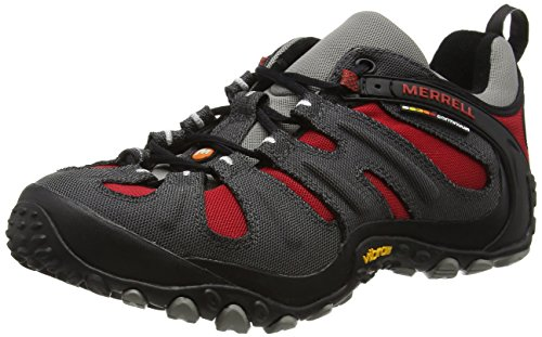 Merrell Men's Chameleon Slam II Walking Shoe, Charcoal Red - 8.5 D(M) -