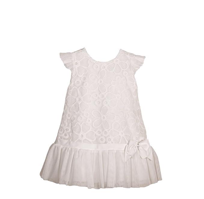 Balumi - Ropa de bautizo - para bebé niña blanco blanco
