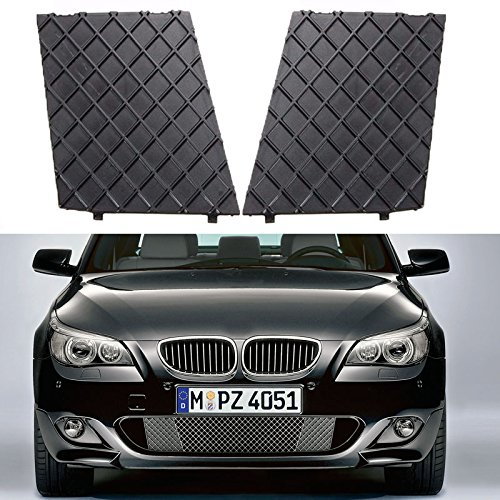 YUK Left&Right Front Bumper Cover Lower Mesh Grill Trim For 2003-2010 BMW E60 E61 M Sport Package - Hook Cover Tow Mesh