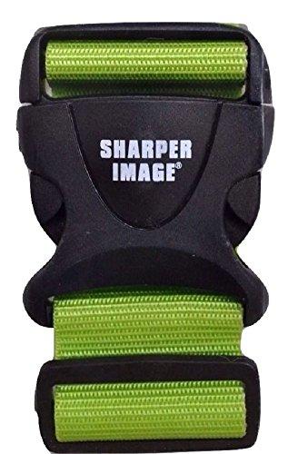 Sharper Image 6ft Adjustable Luggage Strap, Lime Green