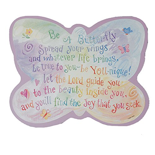 Abbey Press Butterfly Plaque, 10 x 8