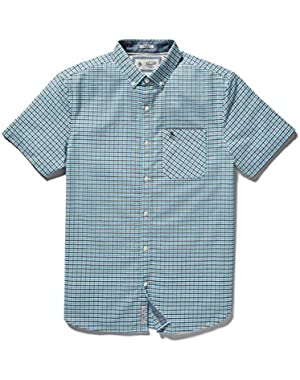 Men's Short Sleeve Tri Color Oxford Gingham Core