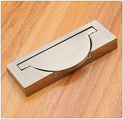 KFZ HAO3143 tirador de puerta corredera empotrado, tirador empotrado, pomos de puerta ocultos deslizantes, equipo de armario de muebles, plateado cepillado 2.52