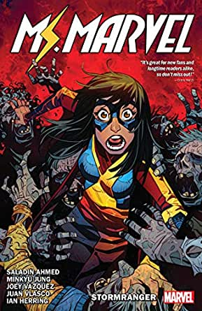 Amazon.com: Ms. Marvel by Saladin Ahmed Vol. 2: Stormranger (Magnificent Ms.  Marvel (2019-)) eBook: Ahmed, Saladin, Vazquez, joey, Petrovich, Eduard,  Vazquez, Joey, Jung, Minkyu, Ahmed, Saladin: Kindle Store