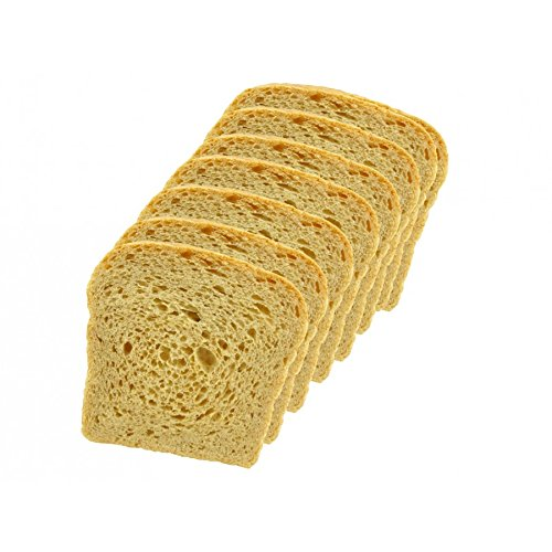 Low Carb Hearty White Bread (8 Slice Pack) - Fresh Baked - LC Foods - All Natural - No Sugar - High Protein - Diabetic Friendly - Low Carb Bread
