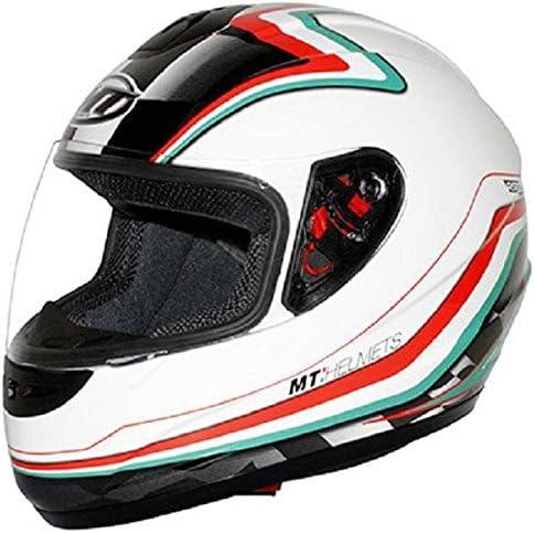 Casco moto integral MT THUNDER diseño de bandera de Italia, color ...