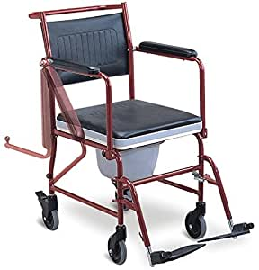 MedMobile® 3-in-1 Commode Chair, Bedside Toilet and Shower Rolling Wheelchair