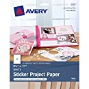 Avery Sticker Project Paper, 8-1/2 x 11 Inches, Pack of 20 (44383)