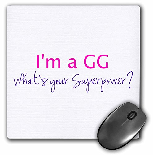 Mouse Super Pad Hot (3drose I'm A GG - What's Your Superpower - Hot Pink - Funny Gift for Grandma - Mouse Pad)