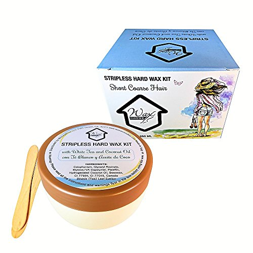 Home Wax - Wax at Home Microwavable White Tea Stripless Wax Kit 8.45 Oz. by Wax Necessities