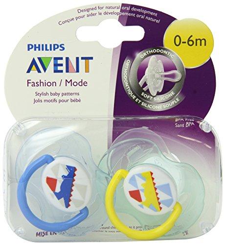 Philips AVENT BPA mode gratuit Pacifier infantile, 0-6 mois, Pack 2, Les couleurs peuvent varier