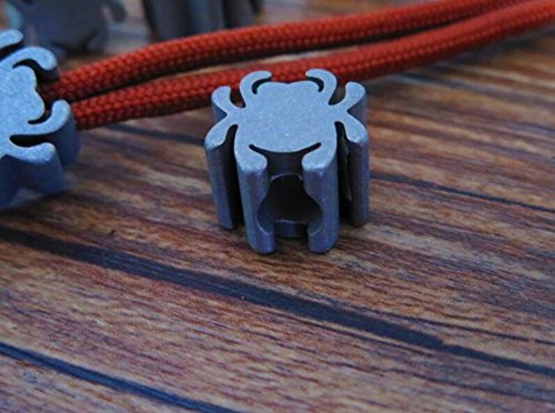 Parachute Spider - Spider Shaped Titanium Ti Parachute Paracord Cord Key Knife Tool Pendant Lanyard Bead