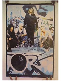 Korn Group Pose Seated On Floor 24X36 Premium Quality Poster