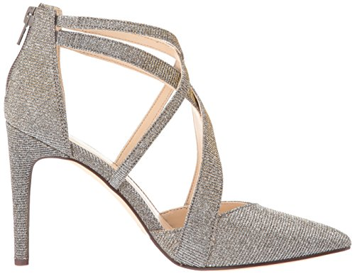 discount wiki cheap sale with credit card Nine West Women's Zorever Fabric Pump Pewter patP9E