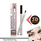 #5: Kiss Beauty Liquid Eyebrow Pen,Eyebrow Long Lasting Tint Dye Cream,Waterproof,Smudge Proof (A# Chestnut)