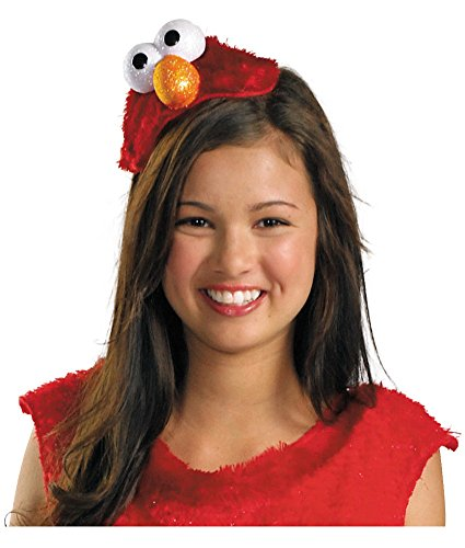 Disguise Women's Adult Costume featuring Sesame Street's Elmo Headband Red, One Size