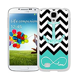 Top White S4 Case Glitter Anchor Watercolor Samsung Galaxy S4 I9500 Case White Cover