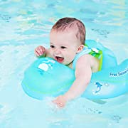 LOYO Baby Pool Float, Adjustable Inflatable Swimming Ring with Soft Safe Chair for Newborn Baby