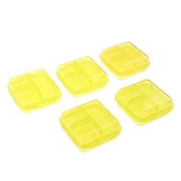 MagiDeal Caja de Pastillas para Dispensador de Organizador de 5 Pastillas con Medicina para Medicamentos - amarillo: Amazon.es: Hogar