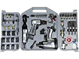 50pcs Air Tool Set Impact Wrench Ratchet Hammer Chisel Socket Set Kit