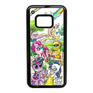 JiHuaiGu (TM) HTC One M9 funda Negro My Little Pony personalizado temático HTC Uno M9 Case - AS9654