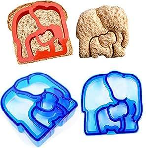 Gogomg Sandwich Cutter Bear Car Dog Elephant Shape Bread Toast Mold Mould Maker