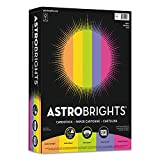 Astrobrights Color Cardstock, 65lb, 8 1/2 x 11, Assorted, 250 Sheets - 21004, (Pack of 2)