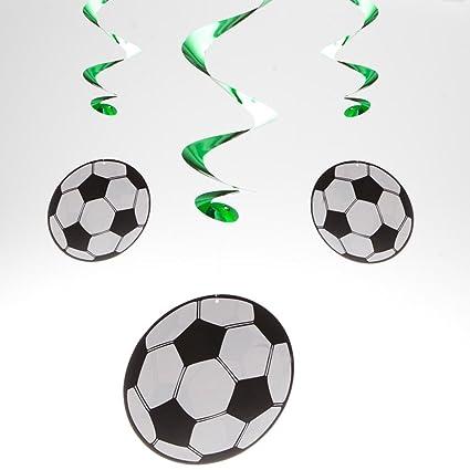 Amazon.com: 5 Soccer whirls accesorio de fiesta banquete ...