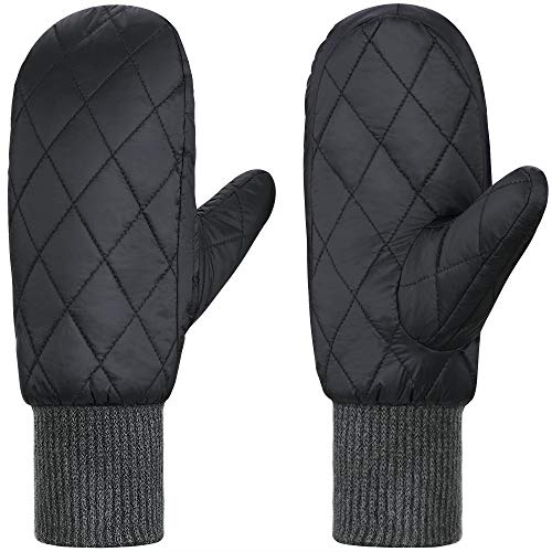 Andake 90% Duck Down Mittens Gloves For Women -20¨H Cold Weather Warm Winter Snow Gloves For Walking Jogging Work Outdoor Gray S-M