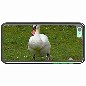 Customized Apple iPhone 5C PC Hard Case Diy Personalized DesignCover background grass swan neck White