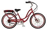 Pedego Step-Thru Comfort Cruiser (Red, Standard White Wall Tires)