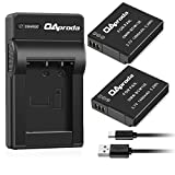 panasonic camera battery charger - OAproda DMW-BCM13 Battery (2 pack) and Ultra Slim Micro USB Battery Charger for Panasonic DMW-BCM13E, DMW-BCM13PP and Lumix DMC-ZS30, DMC-ZS35, DMC-ZS40, DMC-ZS45, DMC-ZS50, DMC-FT5A, DMC-LZ40,DMC-TS5