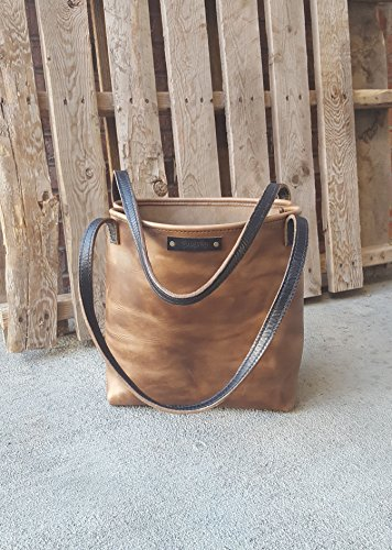 Brown Leather Tote – Leather Purse – Handmade – Women's Leather Bag – Colorado – Ready To Ship – Horween Leather – Natural Chromexcel