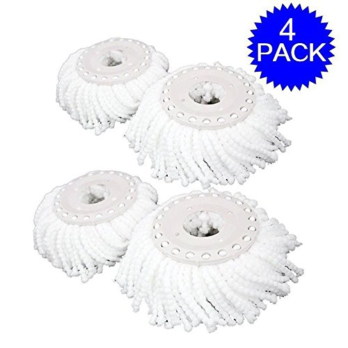 MasterPanel - Lot Of 4 Replacement Mop Micro Head Refill Hurricane For 360° Spin Magic Mop - Canada To Estimate Shipping