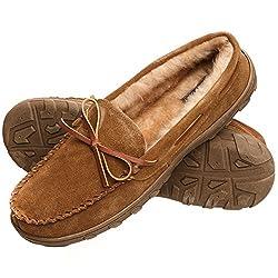 Rockport Men's Memory Foam Plush Suede Slip On Indooroutdoor Moccasin Slipper Shoe