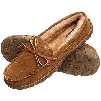 Rockport Men's Memory Foam Plush Suede Slip On Indooroutdoor Moccasin Slipper Shoe 0