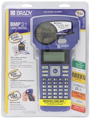 Brady BMP21 Handheld Label Printer, Multi-Line Print, 6 to 40 Point Font