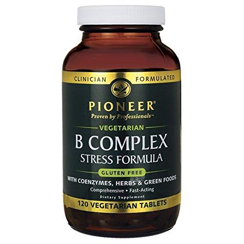 B Complex Stress Formula, Veg Gluten Free Pioneer (Verified Gluten Free) 120 - Pioneer Stores Place In