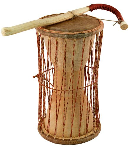 Overseas Connection African Talking Drum, 11'' x 5'' by Overseas Connection