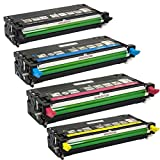 Toner Tech- High Yield Remanufactured OEM Toner Cartridge Replacement (106R01395, 106R01392, 106R01394, 106R01393) for Xerox Phaser 6280 (Complete Set)