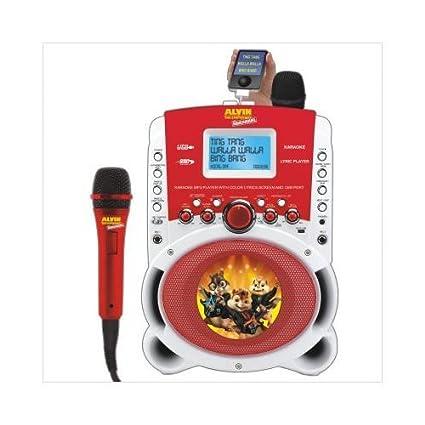 Emerson HD515A Alvin & The Chipmunks Karaoke MP3 Lyric Player With 3 5