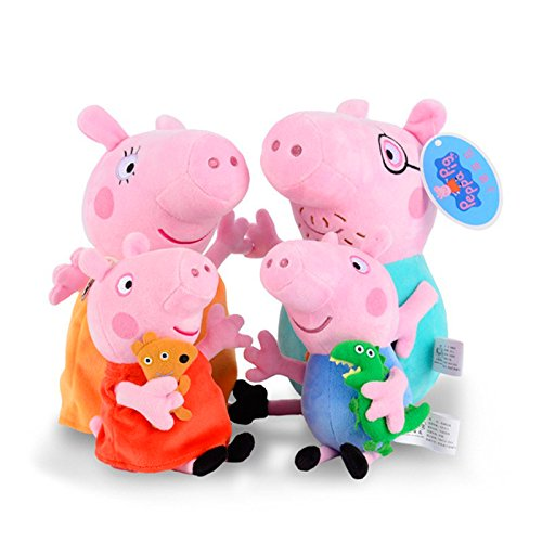APlusMart Piggy Pig Stuffed Family Peppa George Mummy and Daddy Pig